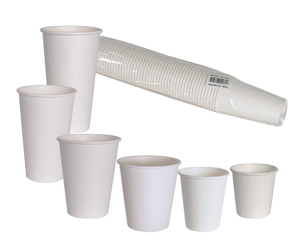 E2E Coffee Cups White