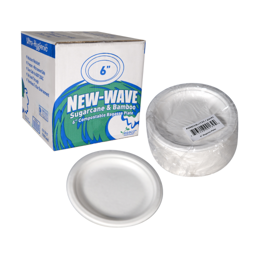 New Wave Bagasse Plate 6 set