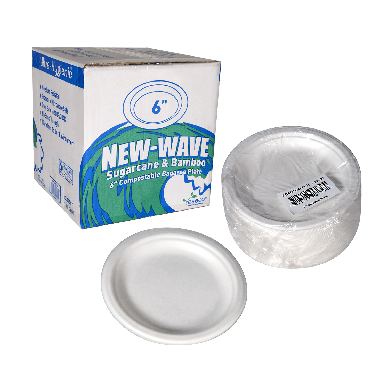 New Wave Bagasse Plate 6 set