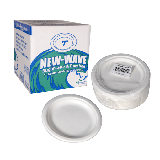 New Wave Bagasse Plate 7 set