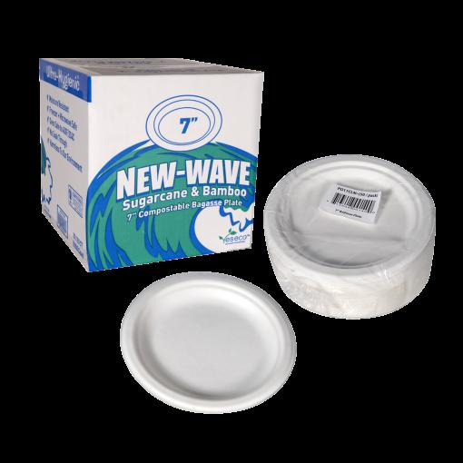 New Wave Bagasse Plate 7 set