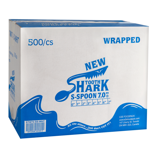 Shark Tooth Soup Spoon Wrapped