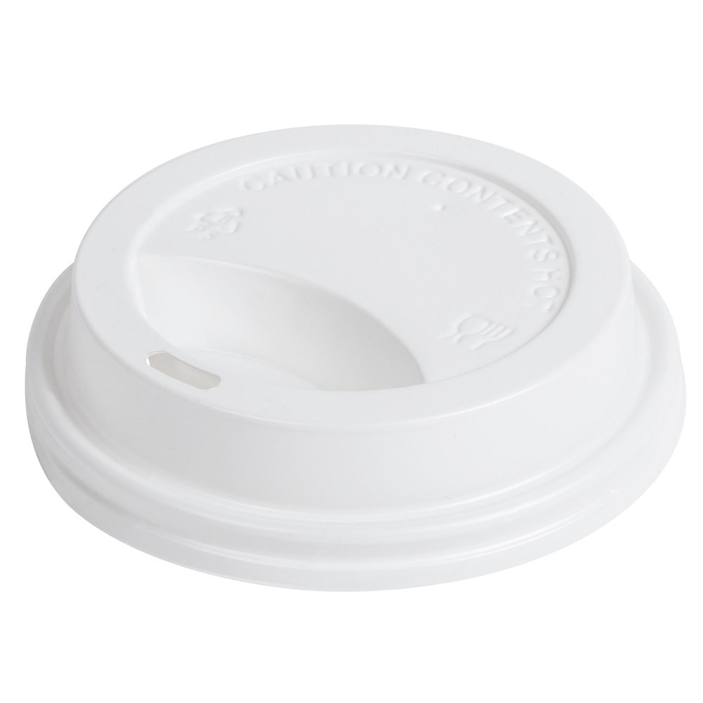 90MM DOM LID WHITE
